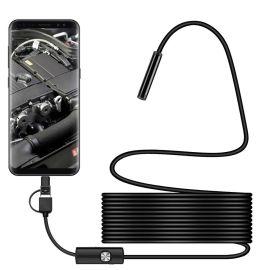 Endoscoop Camera voor Smartphone, Tablet en Laptop · 5 meter · Cacious