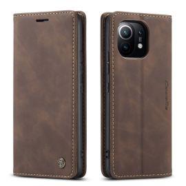 Xiaomi Mi 11 Slank Book Case Hoesje Bruin - Caseme (013 Serie)