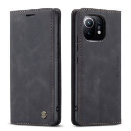 Xiaomi Mi 11 Slank Book Case Hoesje Zwart - Caseme (013 Serie)