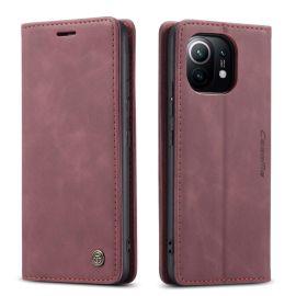 Xiaomi Mi 11 Slank Book Case Hoesje Rood - Caseme (013 Serie)