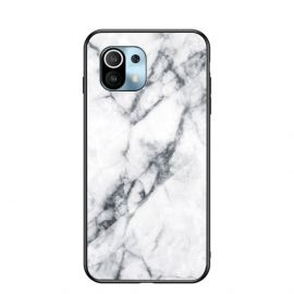 Xiaomi Mi 11 Hoesje Wit Marmer - Cacious (Marble Serie)