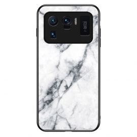 Xiaomi Mi 11 Ultra Hoesje Wit Marmer - Cacious (Marble Serie)