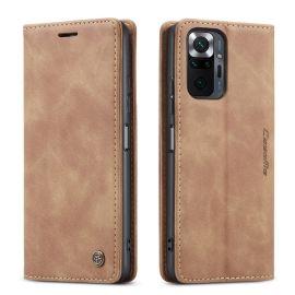Xiaomi Redmi Note 10 Pro Slank Book Case Hoesje Camel - Caseme (013 Serie)
