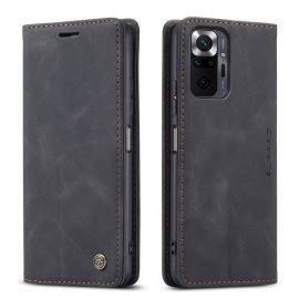Xiaomi Redmi Note 10 Pro Slank Book Case Hoesje Zwart - Caseme (013 Serie)