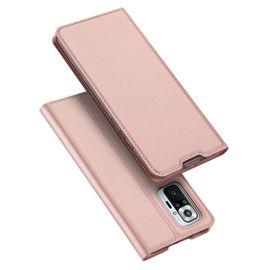 Xiaomi Redmi Note 10 Pro Bookcase Hoesje Roze - Dux Ducis (Skin Serie)