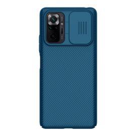Xiaomi Redmi Note 10 Pro Blauw Hoesje met Camerabescherming - Nillkin (CamShield Serie)